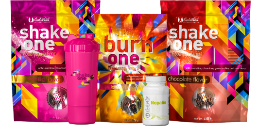 one diet pack Nopalinnal és pink shakerrel