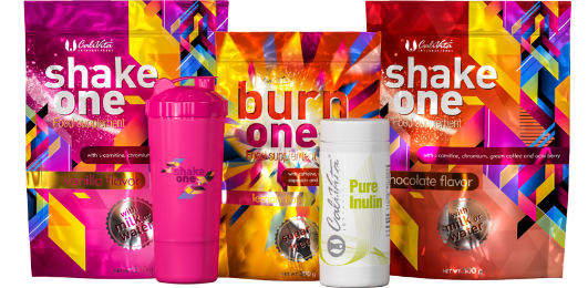 one diet pack Pure Inulinnal és pink shakerrel